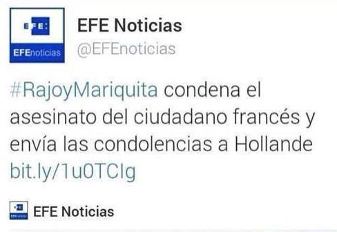 #RajoyMariquita Agencia EFE