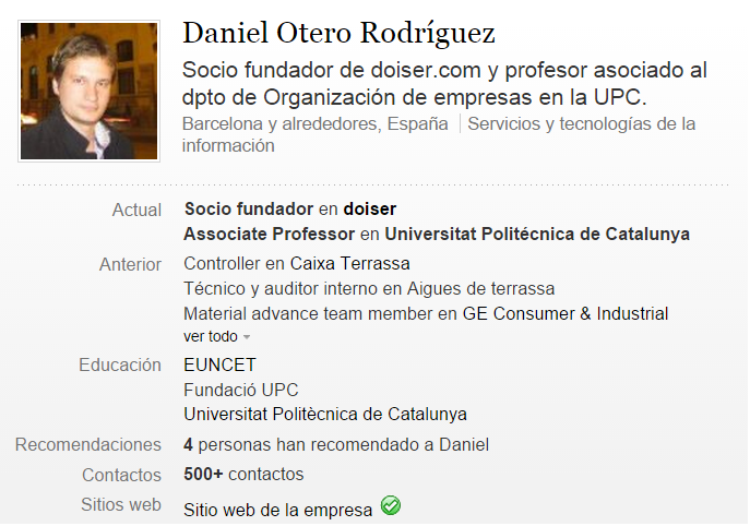 Daniel Otero Linkedin